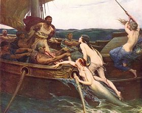 'Odysseus and the Sirens'. Herbert James Draper, 1909. Ferens Art Gallery, Hull