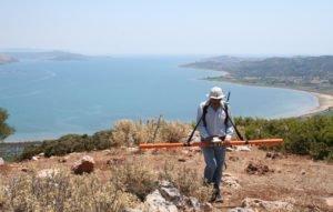 Ηλεκτρομαγνητική μελέτη της κορυφής του λόφου Καστέλλι (Ιούλιος 2017)