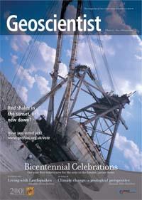 Εξώφυλλο του περιοδικού Γεωεπιστήμονας (Geoscientist), Φεβρουάριος 2007