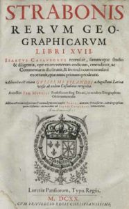 Title page from Isaac Casaubon's 1620 edition of Geographica