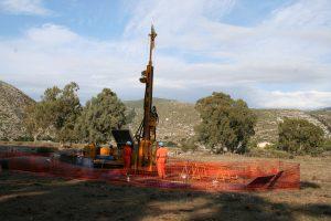 Drilling at Livadi harbour site