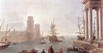 Claude Lorrain: Port Scene with the Departure of Odysseus from the Land of the Phaeacians (oil on canvas, 1646; Louvre, Paris)