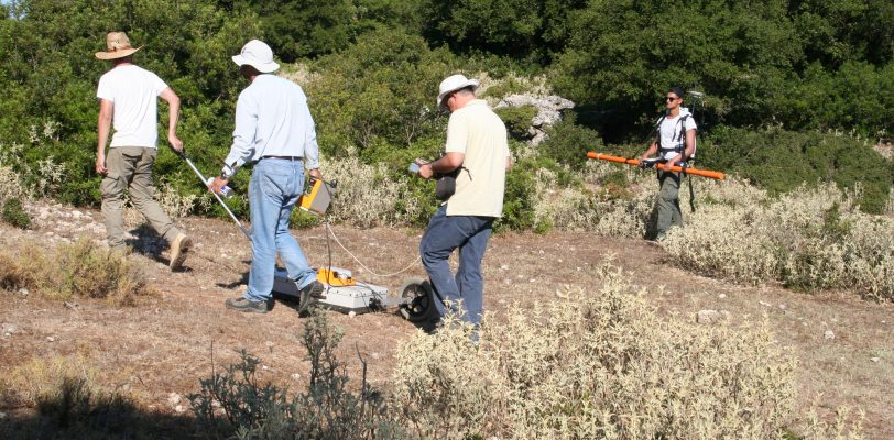 GPR and EM surveys on Kastelli (July 2017)