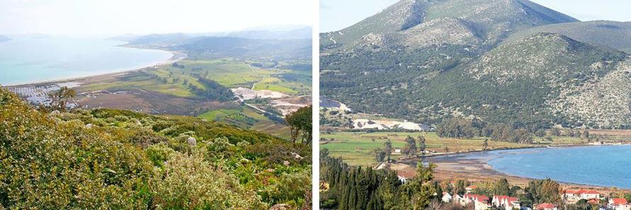 Two views of Livadi Marsh